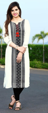 Awesome White Colour Reyon Kurti