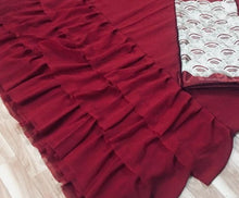 New Collection Maroon Colour Georgette With Freel Saree
