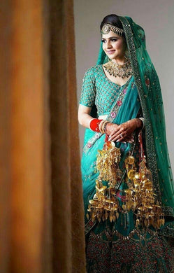 Sky Blue Color Attractive Payor Nailon Silk ( Can- Can ) Lehenga