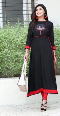 New Collection Black Colour Rayon Kurti