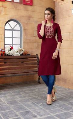 New Collection Maroon Colour  Rayon Kurti