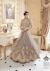 New Collection Grey Colour Net With Embroidery Jari Work Salwar Suit