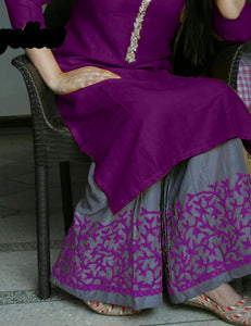 New Collection Purple Colour Riyon Cotton Salwar Suit
