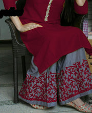 New Collection Maroon Colour Riyon Cotton Salwar Suit