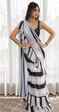 New Collection White Colour Georgette With Printed Saree