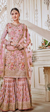 New Collection Pink Colour  Georgette With Embroidery Work + Stone  Salwar Suit