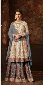 New Collection Grey Colour  Georgette & Santoon  Salwar Suit