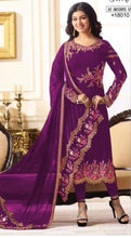 New Collection Purple Colour Havey Georgette With Embroidery Work  Salwar Suit