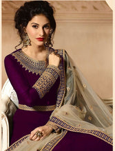 New Collection Purple Colour  Heavy Gorget Embroidery Work & Stone Work Salwar Suit