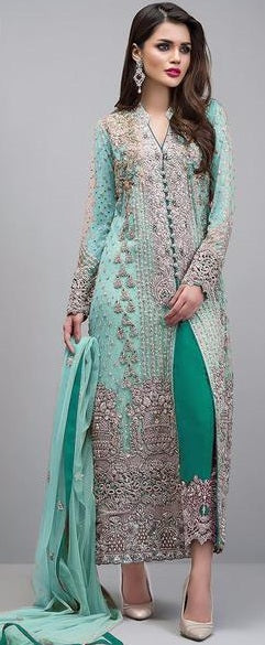 New Collection Skyblue Colour Georgette With Heavy Embroidery  Work  Salwar Suit