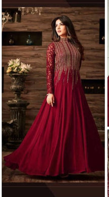 Diwali Special Red Colour  Georgette  Embroidery Work,  With Coding Work Salwar
