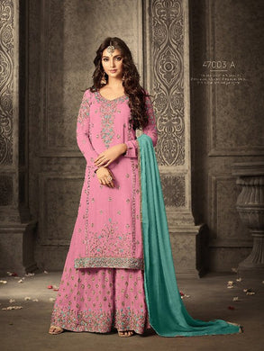 Navratri Special Pink Colour Georgette With Embroidery Work Salwar