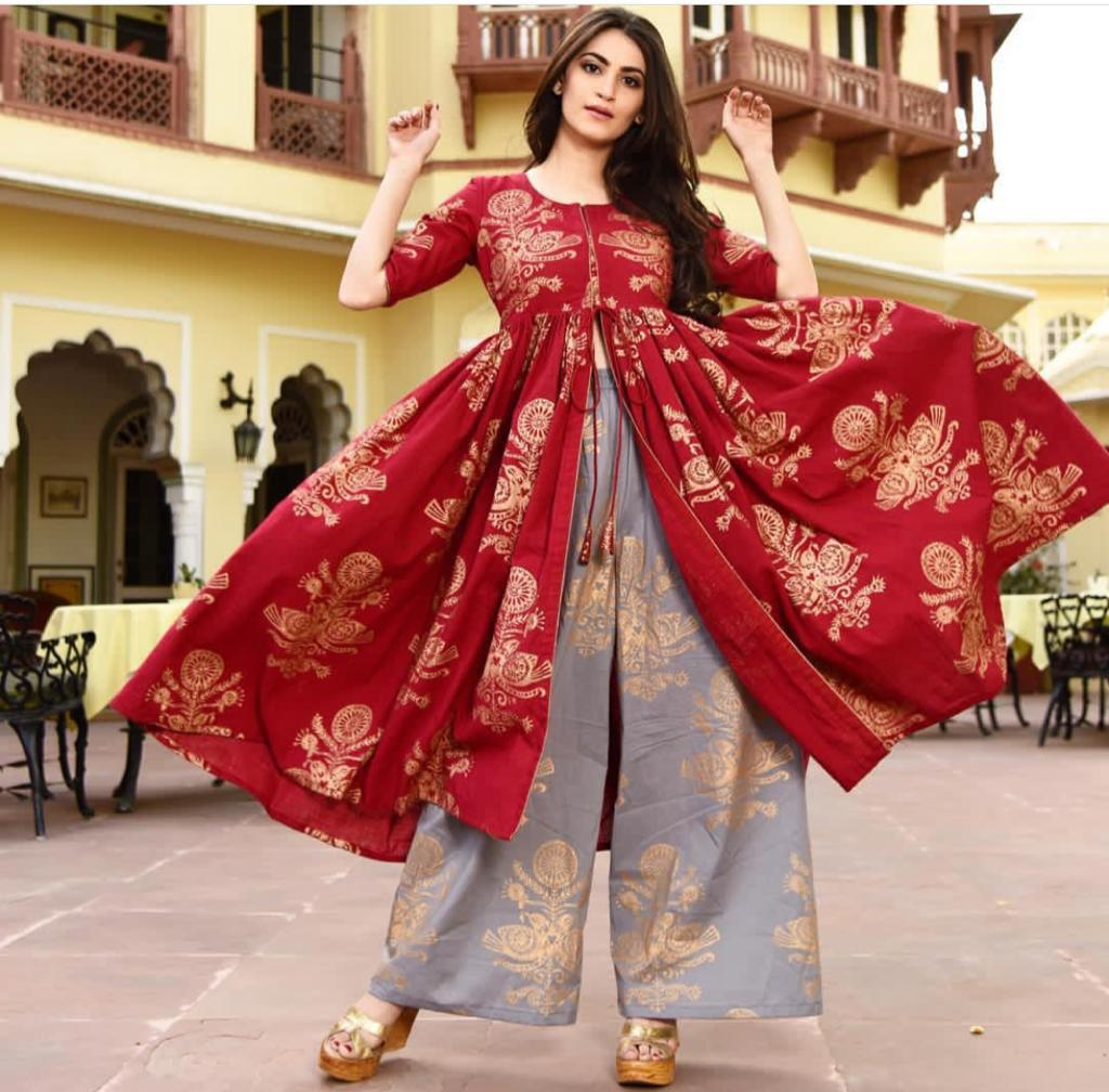 0866c98050 New Collection Red Colour Pure Rayon Cotton Salwar Suit – SAREEU™