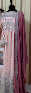 New Collection Pink Colour Georgette Salwar Suit