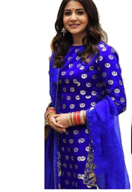Bollywood Style Blue Colour Georgette With Embroidery Work Salwar Suit