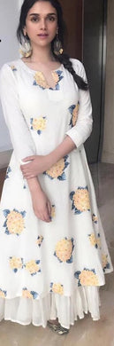 Awesome White Colour Masleen Kurti