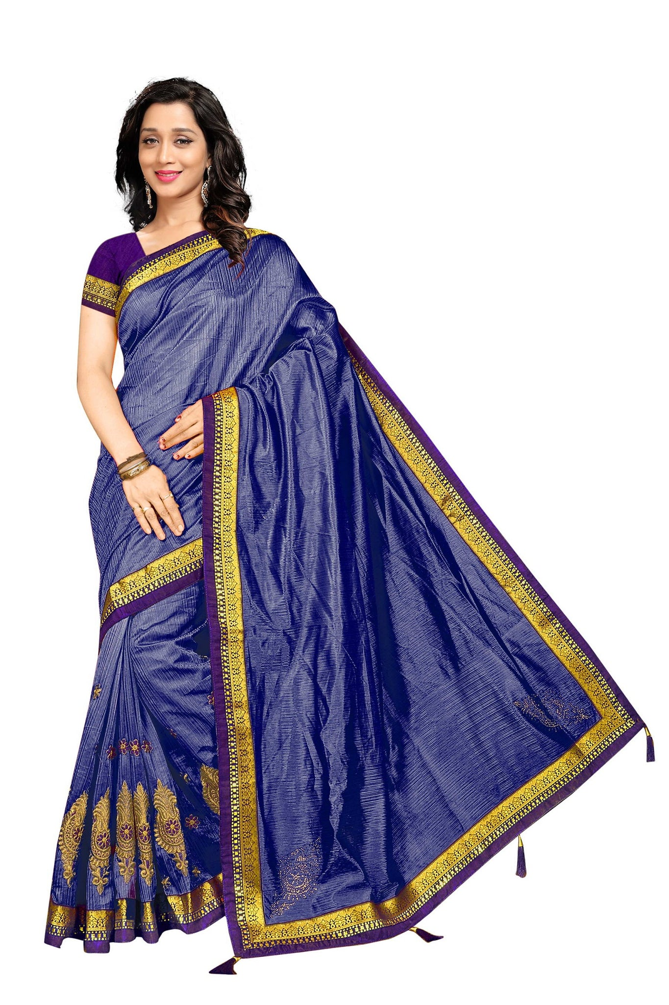 84dd271cbd Navratri Special Navy Blue Tamtam Embroidered Work With Delectable Saree ...
