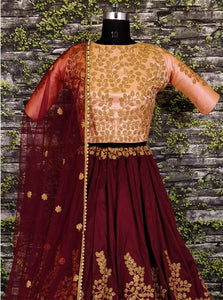 Bulging Curious Multi Velvet Heavy Glitter + Sequence Work With Engaging Lahengha Choli