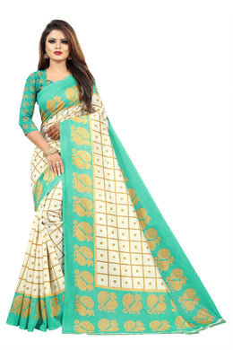 New Latest Stylish Attractive Designer Mysore Art Silk Saree(light Green Colour)