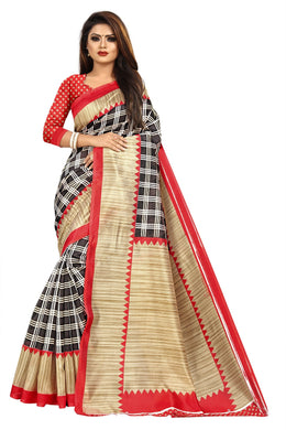 New Stylish Latest Designer Mysore Silk Saree(red Colour)
