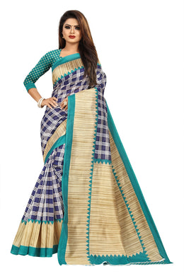 New Exclusive Stylish Designer Mysore Silk Saree (sky Blue Colour)