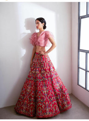 Murlicolor Wedding Exclusive Tapeta Sik Embroidered Lehenga Choli