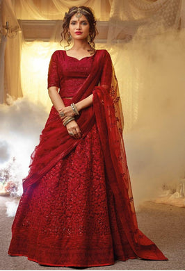 Attractive Beautiful Exclusive Wedding Georgette Embroidered Lehenga Choli