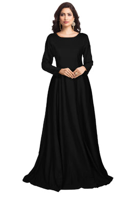 Black Color Attactive New Imported Readymade Stretchable Gown