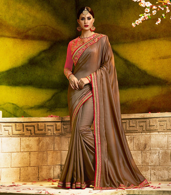Awesome Beautiful Traditional Heavy Barfi Silk Saree With Blouse