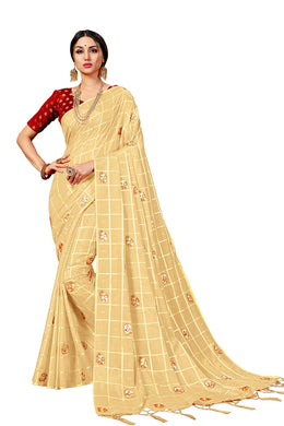 Chilku Latest New Arrival Women's Sana Silk Saree With Blouse Piece