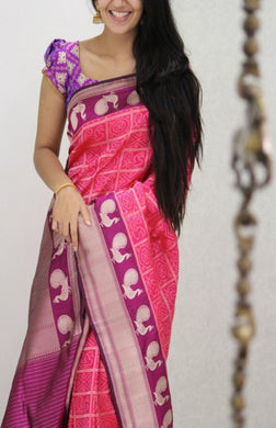 Awesome Multicolor New Trendy Latest Soft And Smooth Golden Zari Digital Print Saree