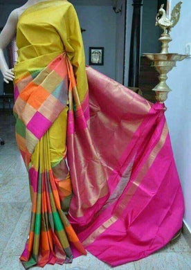 Multi- Colour New Trendy Latest Collection Soft And Smooth Golden Zari Digital Print Saree