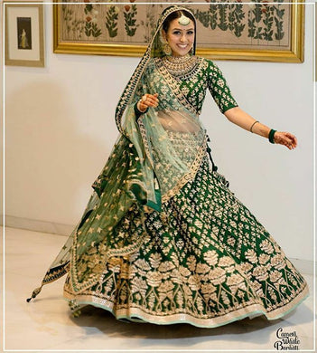 Green New Lengha Choli Indian Wedding Designer Lehenga Bollywood Ethnic Wear