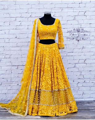 Yellow New Lengha Choli Indian Wedding Designer Lehenga Ethnic Wear For Women