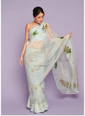 Integral New Awesome Latest Multicolor Soft And Smooth Orgenza Digital Print Saree