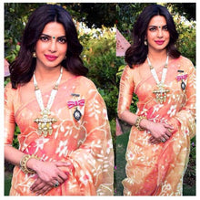 Designer Orange Heavy Net Stunning Embroidery And Enhanced By Throughout Fancy Lace Saree