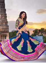 New Collection Blue Colour  Georget	 Lehenga
