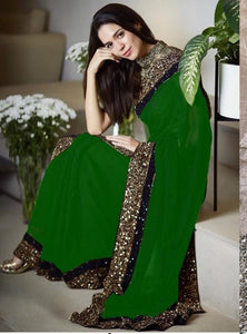 New Collection Green Colour  Georgette  Saree