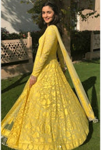 New Collection Yellow Colour Georgette Salwar Suit