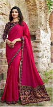 New Collection Pink Colour Sana Silk And Work Saree