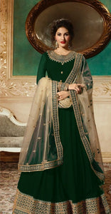 New Collection Green Colour Heavy Gorget Embroidery Work & Stone Work Salwar Suit