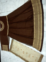 New Collection Brown Colour  Heavy Gorget Embroidery Work & Stone Work Salwar Suit
