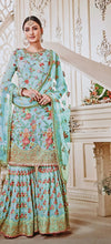 New Collection Skyblue Colour  Georgette With Embroidery Work Salwar Suit