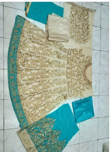 New Collection Skyblue Colour  Georgette & Santoon Salwar Suit