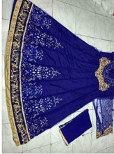 New Collection Blue Colour  Heavy Net With Embroidery Work Salwar Suit