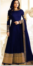 New Collection Blue Colour Georgatte With Coding Embroidary Work Salwar Suit