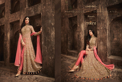 Gajri Colour Salwarsuit Kameez Anarkali Indian/pakistani Dress Ethnic Readymade Shalwar