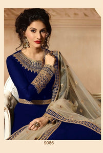 Royal Blue Colour Heavy Georgette With Codding Work Salwar Suit Anarkali Style