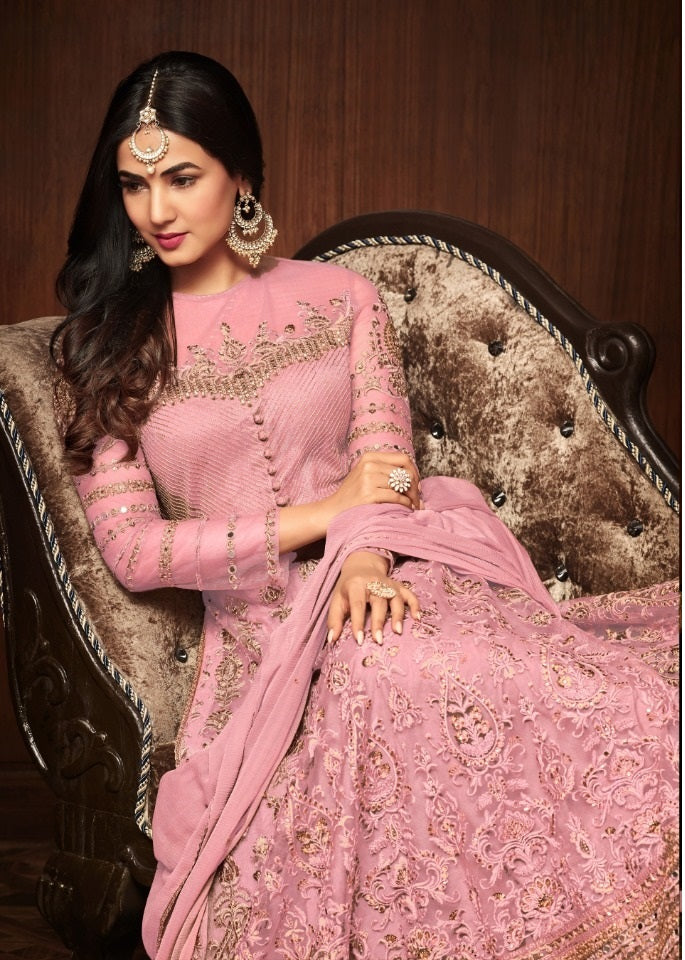 a5e2f93502130 Pink Colour New Indian/pakistani Salwar Kameez Bollywood Ethnic Wear  Traditional Anarkali Suit ...