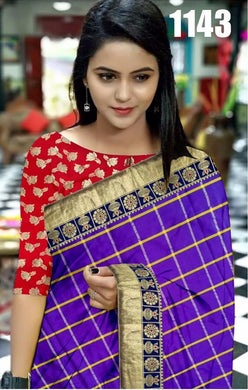 Entegral Purple Panetar Sana Chex Designer Look Saree